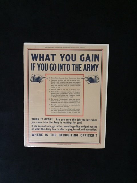 WHAT YOU GAIN IF YOU GO INTO THE ARMY. THINK IT...