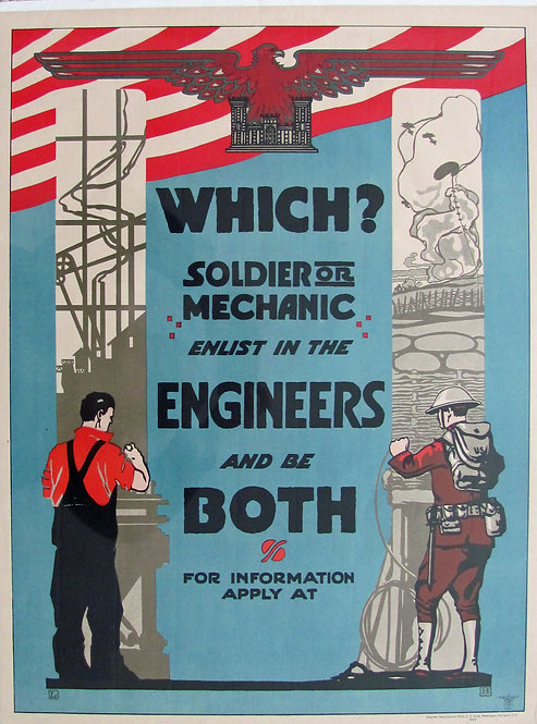 """WHICH? SOLDIER OR MECHANIC. ENLIST IN..."""