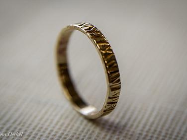 טבעת נישואין בהזמנה אישית - זהב 18 קרט