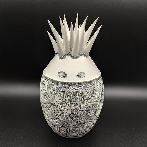 """Grande Sculpture """"SAÏPH"""" Porcelaine collection Créature"""