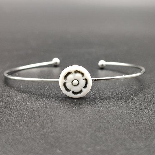 """Bracelet """"Florence 3"""" Porcelaine"""