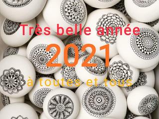 Je vous souhaite une excellente année 2021 !
