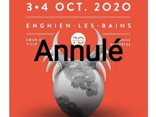 """Annulé (Co-vid 19) / Exposition """"Les Créateurs"""" / Enghien les bains / 3-4 Octobre 2020."""