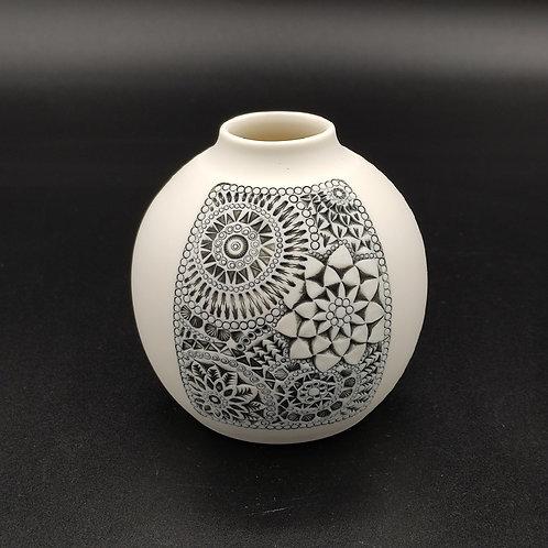 """Vase """"Carré"""" Porcelaine"""
