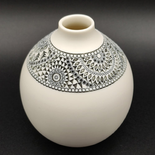 "Vase ""Ligne"" 5 Porcelaine"