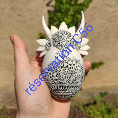 """Réservation C56 -2 Sculpture  Collection """"Déesse"""" Porcelaine"""
