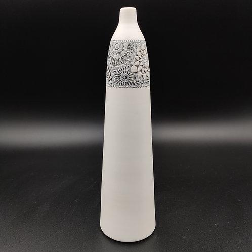 """Vase bouteille """"Bandeau"""" T1 Porcelaine"""