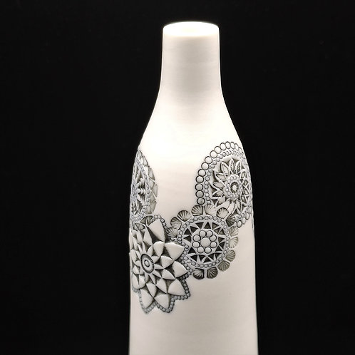 """Vase bouteille """"Couronne"""" T2 Porcelaine"""