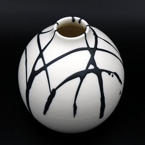 "Vase ""Coulures"" 1 Porcelaine"