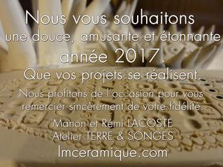 2017 ! Nos vœux Terre et Songes .