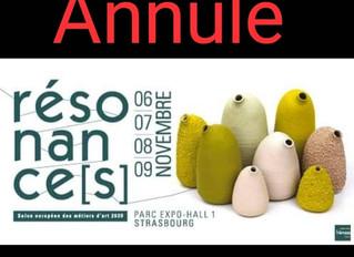 Annulé ( Covid-19 ) /Résonances / Strasbourg / 6 au 9 Novembre 2020.