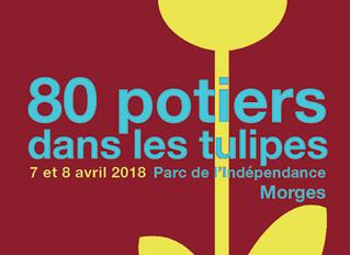 80 Potiers dans les Tulipes / Morges (Suisse) 7 et 8 Avril 2018.