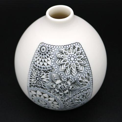 """Vase """"Carré"""" 2 Porcelaine"""