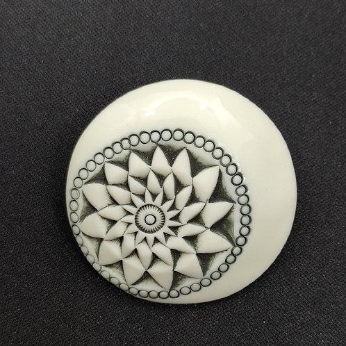 "Broche Porcelaine    Collection ""Porto"""