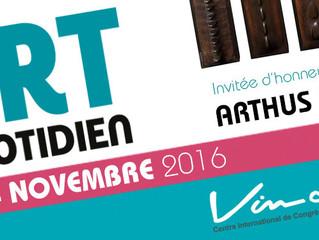 Salon Art au quotidien / Tours du 11 au 14  Novembre 2016