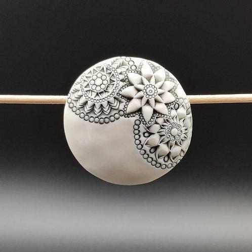 """Broche Porcelaine    Collection """"Sydney"""" modèle 3"""