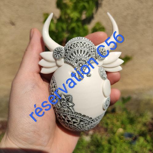 """Réservation C56 -1 Sculpture  Collection """"Déesse"""" Porcelaine"""