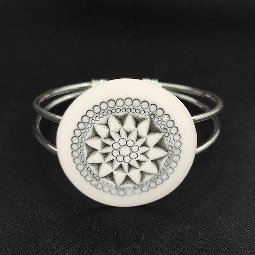 """Bracelet """"Banjul"""" Porcelaine"""