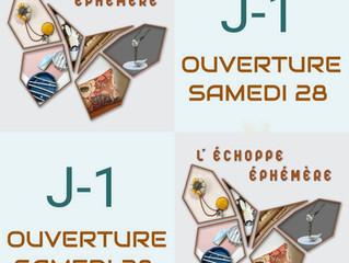 L'Echoppe Ephèmére ouvre ses portes samedi 28 Novembre galerie Nationale à Tours - 27 créateurs.