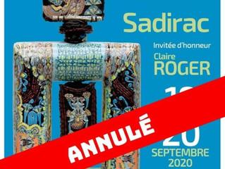 Annulé ( Covid-19) / Céramique en Fête / SADIRAC / 19 et 20 Septembre 2020