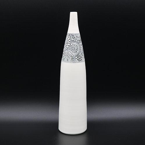 """Vase bouteille """"Bandeau"""" 1 Porcelaine"""