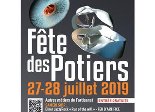 Fête des potiers / Moulins-La-Marche / 27-28 Juillet 2019.