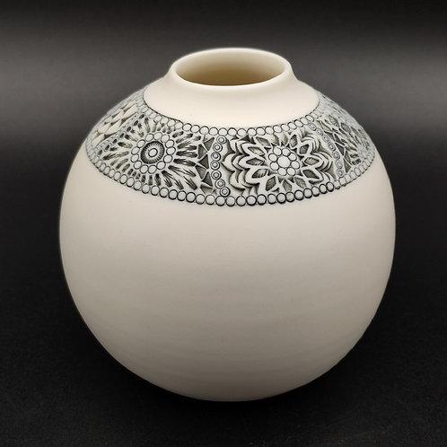 "Vase ""Ligne"" 4 Porcelaine"