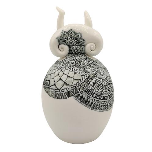 """Sculpture Porcelaine """"MUNTU"""" Collection """"Créature"""""""