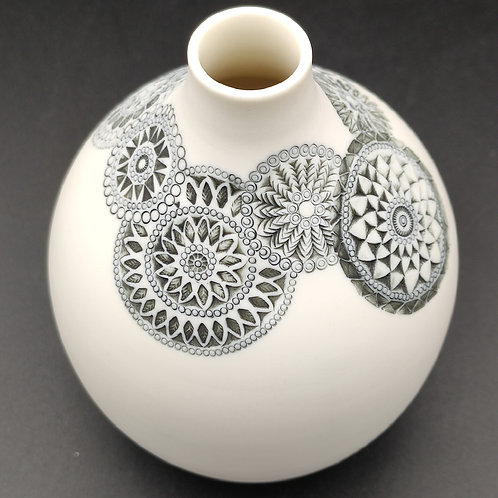 """Vase """"Couronne"""" Porcelaine"""