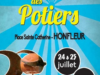 Marché de potiers à Honfleur, ce 24 et 25 juillet sur la place St Catherine.