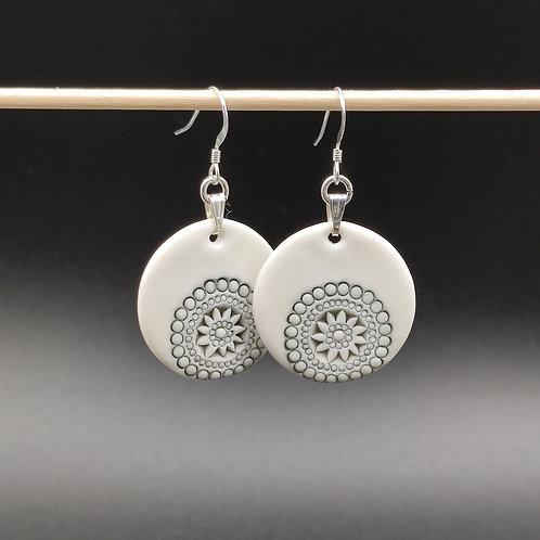 """Boucles d'oreilles Porcelaine            Collection """"Moscou"""""""