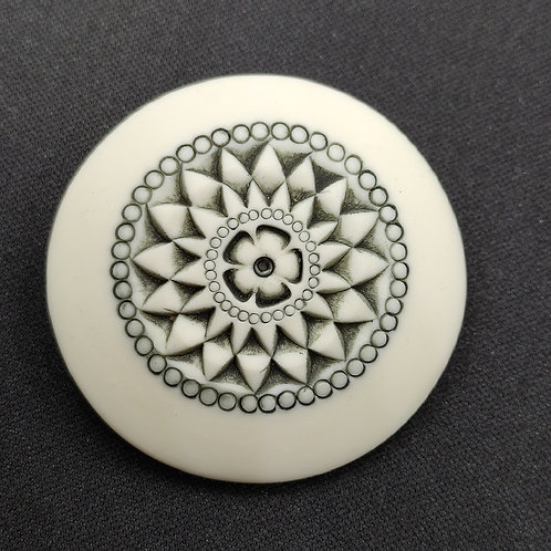 """Broche Porcelaine    Collection """"Milan"""""""