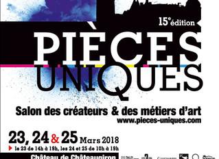 15ème Edition/ Pièces uniques / Château de Châteaugiron / 23 , 24 et 25 Mars 2018.
