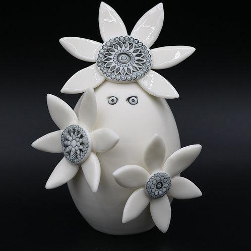 """Sculpture """"Chloris"""" Collection """"Créature"""" Porcelaine"""