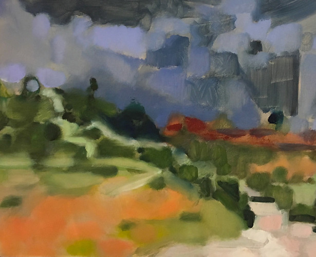 """Desert Drama #7"" Oil/Canvas 24 x 30 in."