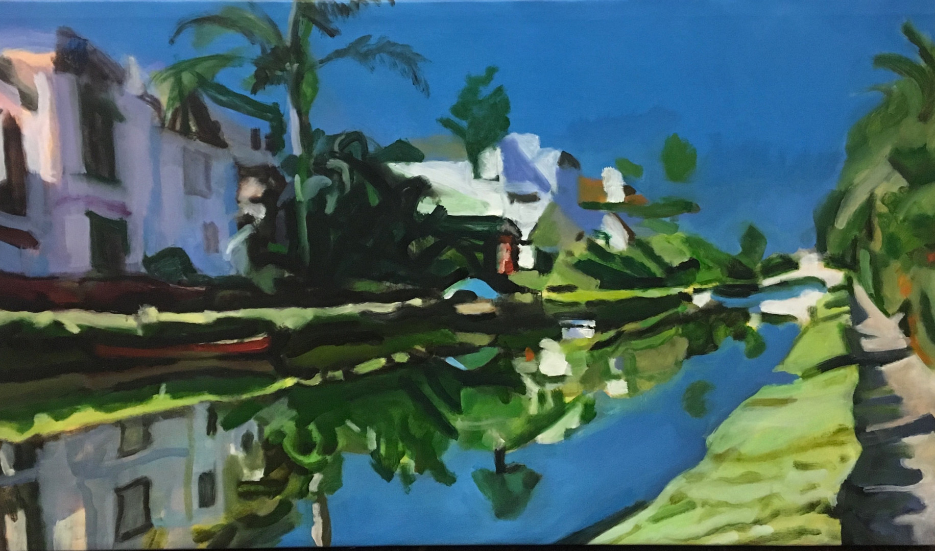 """""""Venice Canal #4"""" Oil/Canvas 23 x 28in."""