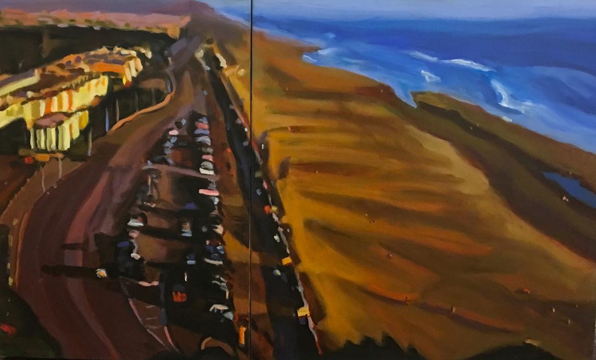 """""""Ocean Beach"""" Oil/Canvas 34x48in."""