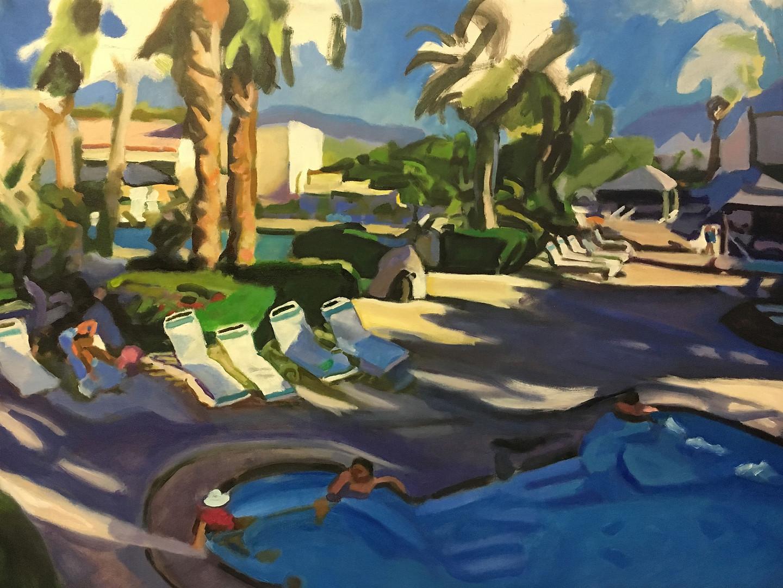 """Desert Resort"" Oil/Canvas 34x45 in."