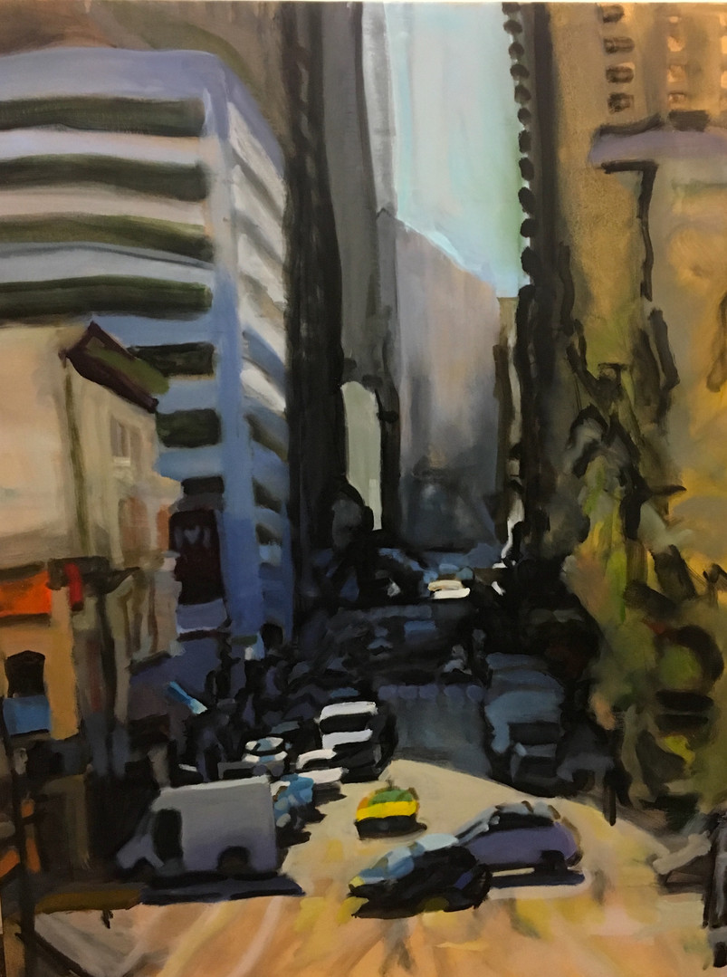 """""""City Canyon #12"""" Oil/Canvas 62x47in."""
