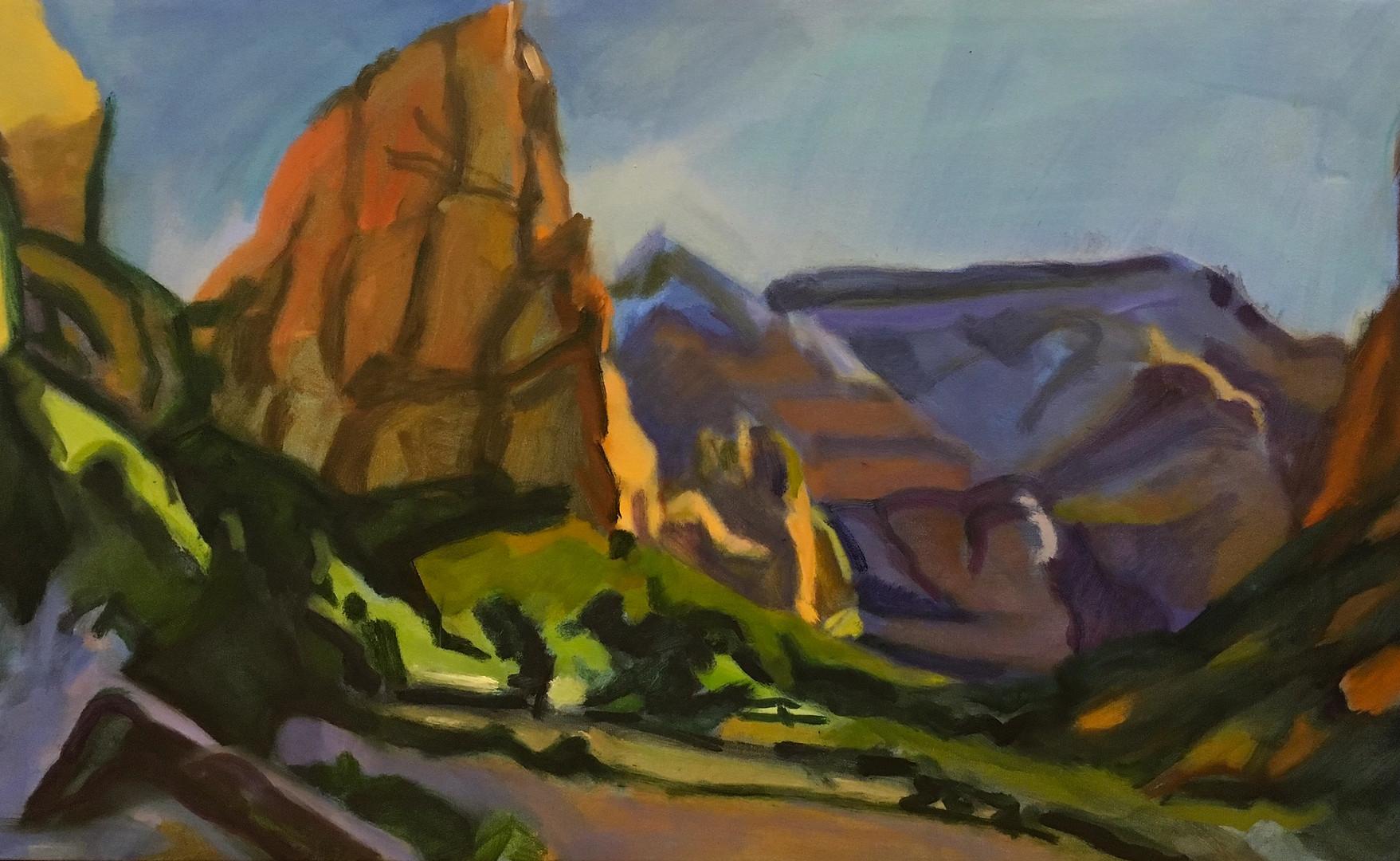 """""""Angel's Landing"""" Oil/Canvas 22 x 36 in."""