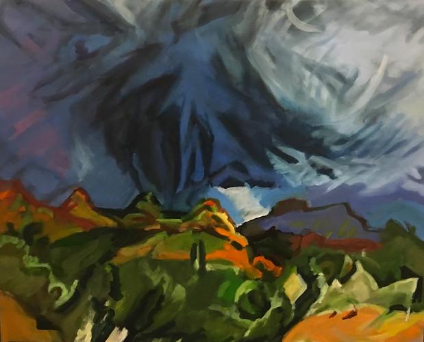 """Desert Drama #6"" Oil/Canvas 32 x 40 in."