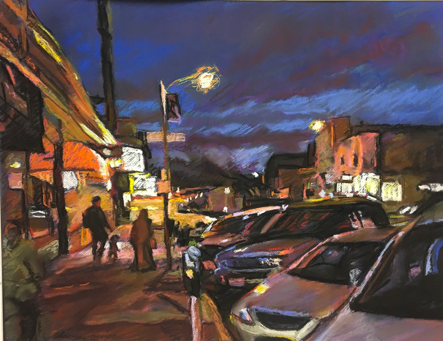 """""""City Twilight""""  Pastel/Canson 18x22in."""