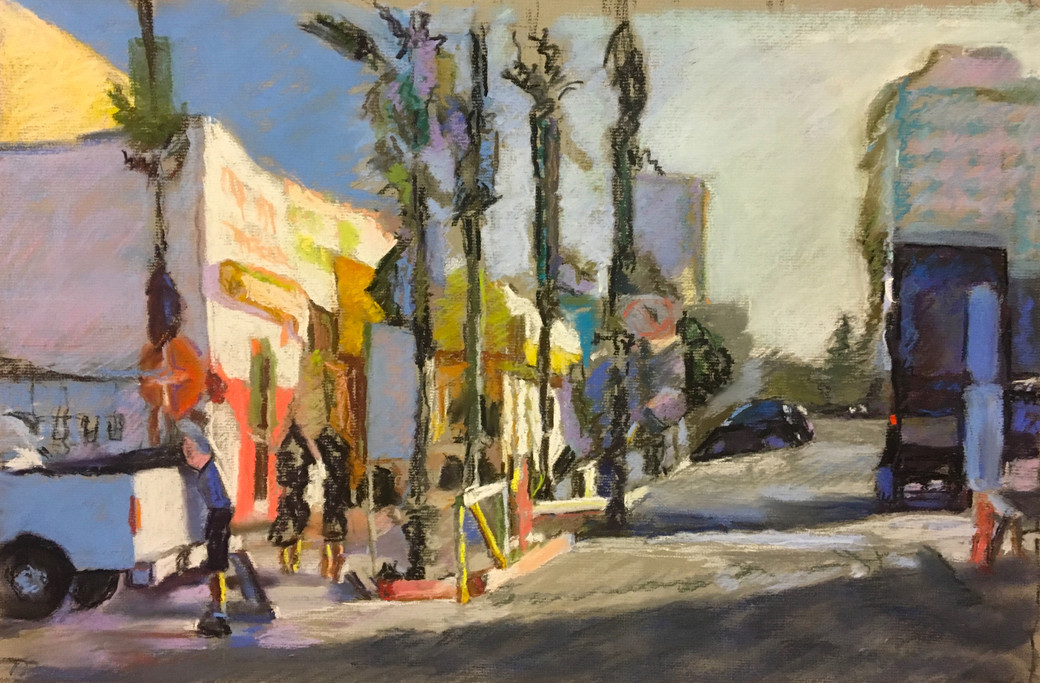 """""""From Venice Beach #2.5"""" Pastel/Canson 14.5x22in."""