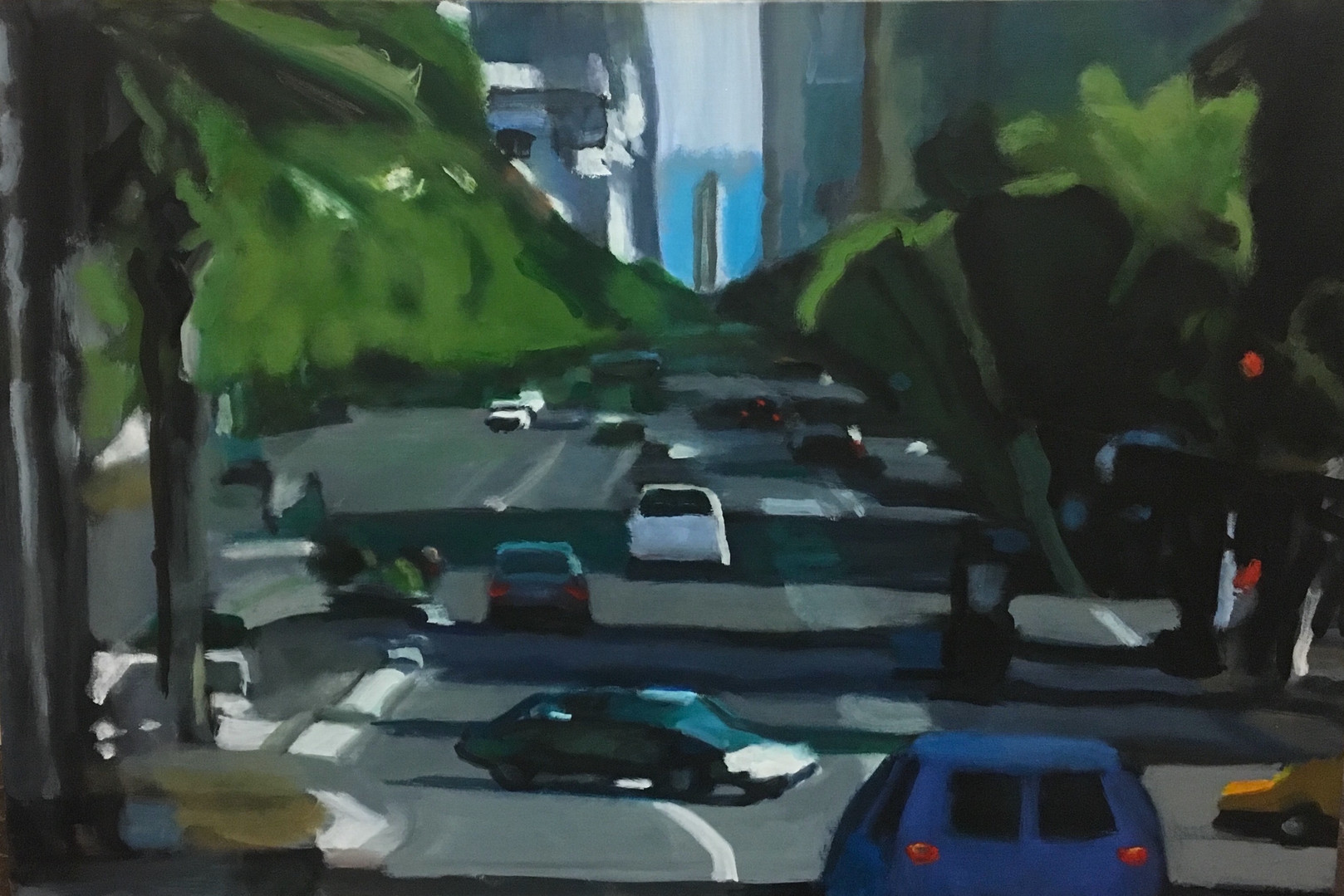 """""""Morning in the City #4"""" Oil/Canvas 24x36in."""