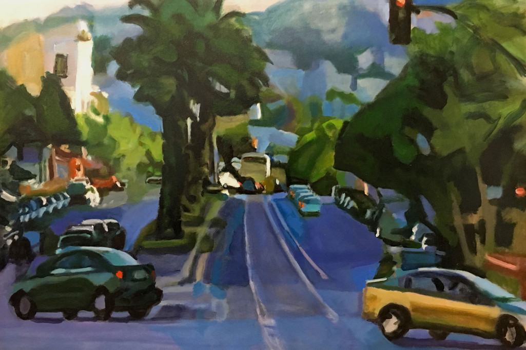 """""""Tropical City # 3"""" Oil/Canvas 28x42in."""