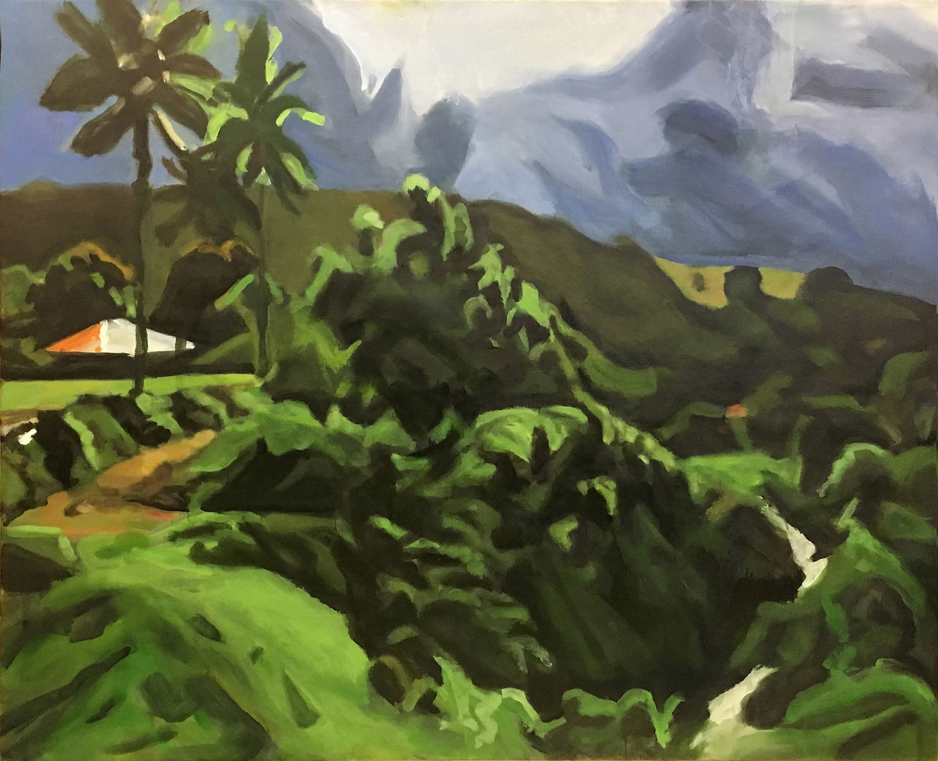 """""""Tropics"""",  Oil/Canvas 57 x 70 in."""