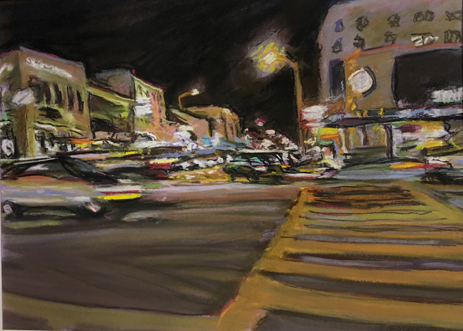 """""""Lightning Intersection"""" Pastel/Canson 18x22in."""