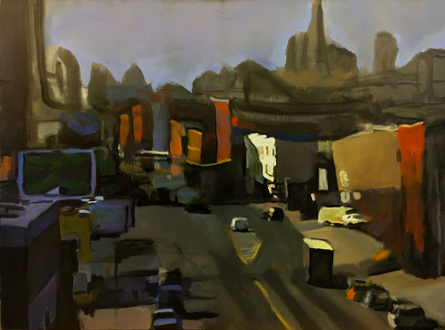 """""""Into The City #4"""" Oil/Canvas 36x48in."""