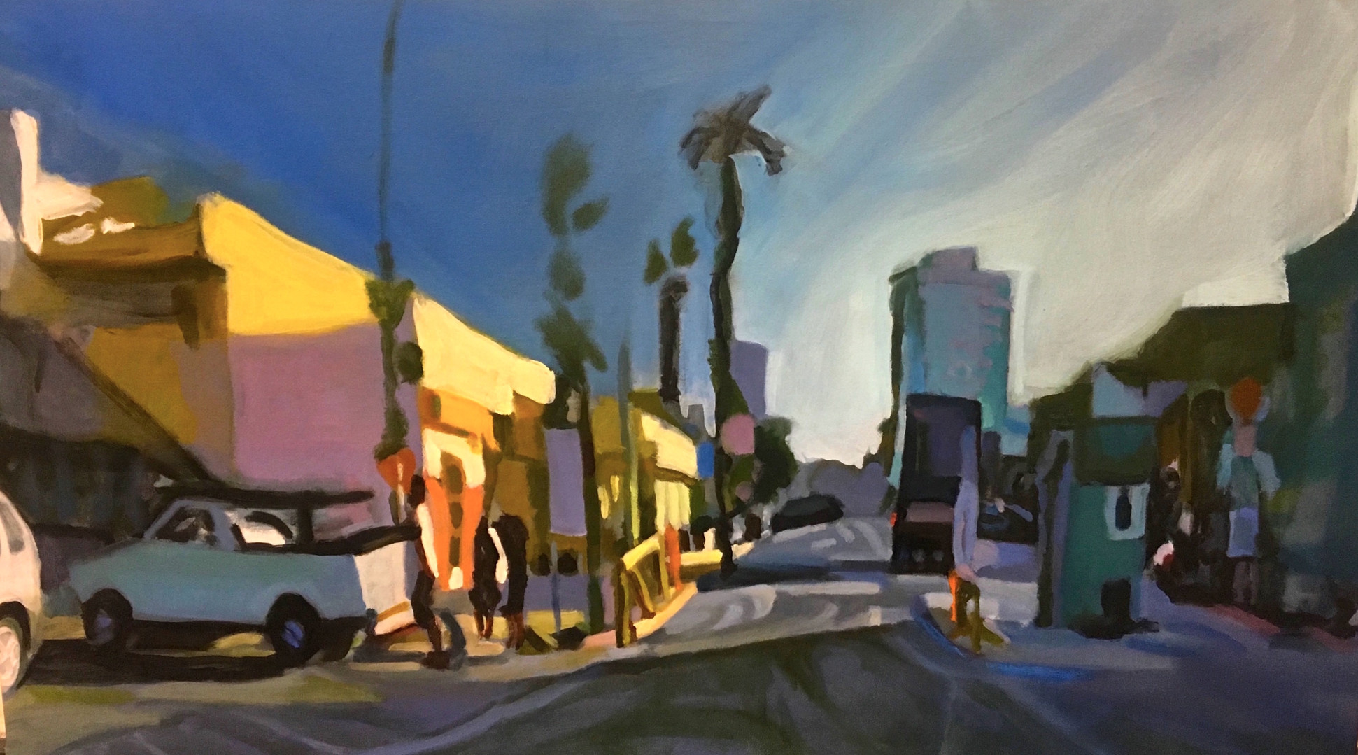 """""""From Venice Beach #2"""" Oil/Canvas 21x39in."""