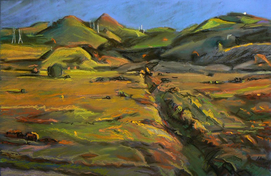 """Western Landscape #8"" Pastel/Canson  17 x 22 in."